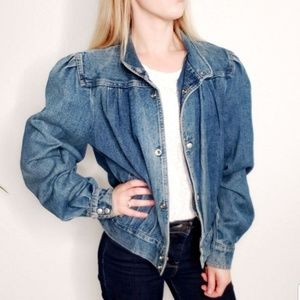 80s Vintage Distressed Grunge Denim Jean Jacket Sm
